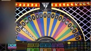 【ネットカジノJP】マネールーレットDream Catcher、MULTIPLIERx7でペイアウト140倍