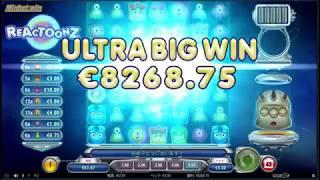 【ネットカジノJP】スロット『リアクトゥーンズReactoonz』、で1653倍のBIGWIN