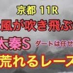 【競馬予想】京都11R 太秦S2019【台風で大荒れ!?】このレースは当てないとな!