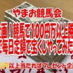 緊急企画!競馬で100万円勝ってるので毎日定額で宝くじ買ってみた