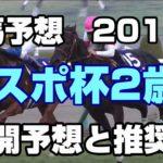 【競馬予想】東京スポーツ杯2歳S 展開予想と推奨馬