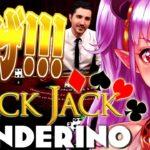 【オンラインカジノ】ワンダリーノのブラックジャックで一山当てるわよ!!♡