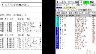 競馬予想メールマガジン配信結果 2020年1月18日 5頭BOX 2戦1勝