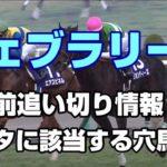 【競馬予想】フェブラリーステークス2020 1週前追い切り情報 データに該当する穴馬3頭