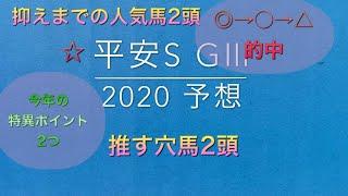 【競馬予想】 平安ステークス 2020 予想