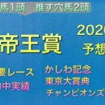 【競馬予想】 地方交流重賞 帝王賞 2020 予想