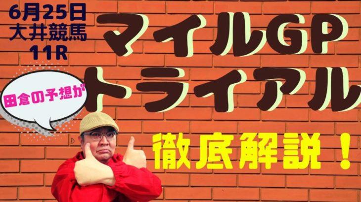 【田倉の予想】6月25日大井競馬・11R マイルグランプリトライアル 徹底解説!
