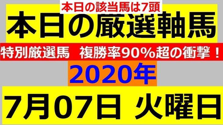 日本海スプリント2020 毎日更新 【軸馬予想】■門別競馬■水沢競馬■金沢競馬■名古屋競馬■2020年7月7日(火)