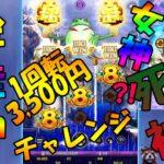 #79【オンラインカジノ スロット】1回転3,500ベットチャレンジ!金蛙神は女神?ちに神?!