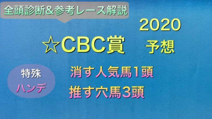 【競馬予想】 CBC賞 2020 予想