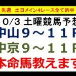 【競馬予想】10月3日(土)【シリウスS 2020&全レース予想】本命馬を公開、先週【土日メイン完全的中】