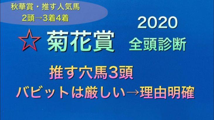 【競馬予想】 菊花賞 2020 全頭診断 事前予想
