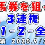 【地方競馬攻略】万馬券を狙って、3連複1-2-全流し! 2020.9/30 薗田競馬 名古屋競馬 楽天競馬
