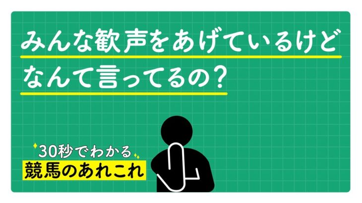 30秒でわかる競馬のあれこれ〜(3)応援編〜