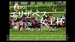 2020 エリザベス女王杯 競馬予想 レースシミュレーション(枠順確定後)
