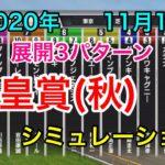 【競馬】天皇賞秋2020 シミュレーション《展開3パターン》