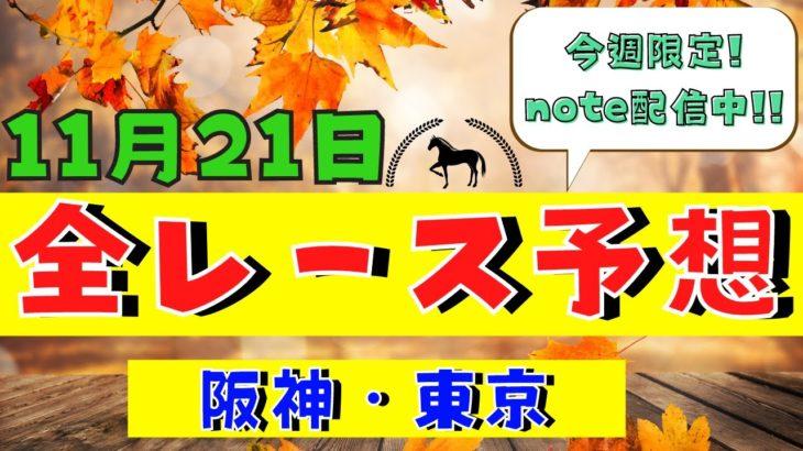 【週間競馬予想TV】2020年11月21日(土) 中央競馬全レース予想〜狙い馬・推奨レース〜を公開。阪神・東京の平場、特別戦、重賞レース。注目馬を考察