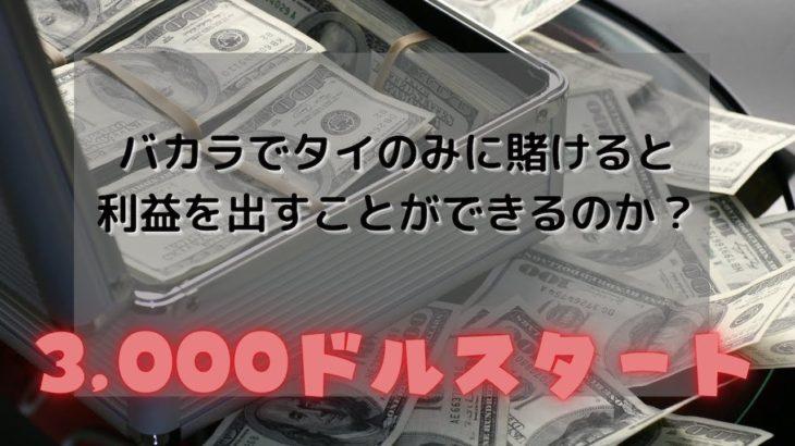 【オンラインカジノ検証】バカラでタイのみに賭けたら稼ぐことができるのか?
