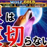 #176【オンラインカジノ スロット】狼は裏切らない WOLF GOLD