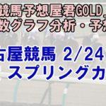 2/24(水) 名古屋競馬  10R スプリングカップ-最後に能力偏差値公開【地方競馬 指数グラフ・予想】
